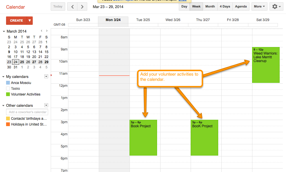 Google Share Calendar With Organization : Google apps free tools for volunteer management track
